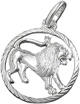Unbespielt Schmuck Kettenanhänger Silberanhaenger für Halskette Unisex Anhänger Sternzeichen Löwe 925 Silber 15...