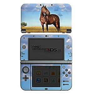 DeinDesign Skin kompatibel mit Nintendo New 3DS XL Folie Sticker Pferd Wiese Himmel