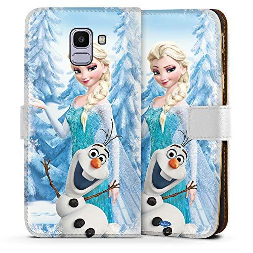 DeinDesign Samsung Galaxy J6 2018 Tasche Leder Flip Case Hülle Disney Frozen ELSA & Olaf Geschenke Merchandise