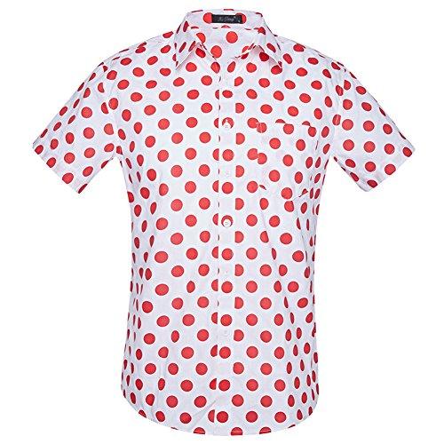 Camisas Hawaianas Hombre Casual Manga Corta Estampada con Múltiples Opciones Tipo 9 XL