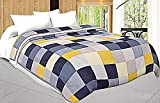 #7: Shopnetix Microfiber Check Print Double Bed Dohar/Ac Blanket (Blue Yellow)