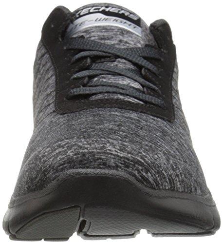Skechers Flex Appeal 2.0New Image, Baskets Basses Femme Black/Charcoal