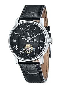 Thomas Earnshaw - ES-8042-01 - Westminster - Montre Homme - Automatique Analogique - Cadran Noir - Bracelet Cuir Noir
