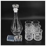 Ecentaur Whisky Dekanter Karaffe Glas Set mit Whiskey Gläser Whiskykaraffe Kristall Flasche für Wein Likör Wasser Drink