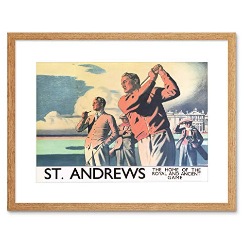 TRAVEL ST ANDREWS SCOTLAND GOLF SPORT ROYAL ANCIENT GAME FRAMED PRINT B12X7895 - Royal And Ancient Golf