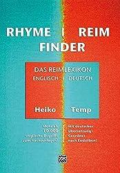 Rhymefinder - Reimfinder: Das Reimlexikon: Das Reimlexikon. Mehr als 10000 englische Begriffe zum Nachschlagen! Mit deutscher Ãœbersetzung! Geordnet nach Endsilben! by Heiko Temp (2008-07-01)