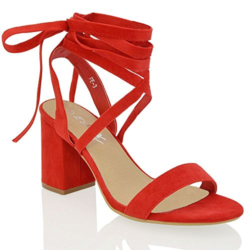 womens-lace-up-block-mid-heel-ankle-tie-wrap-lace-up-strappy-sandal-shoes