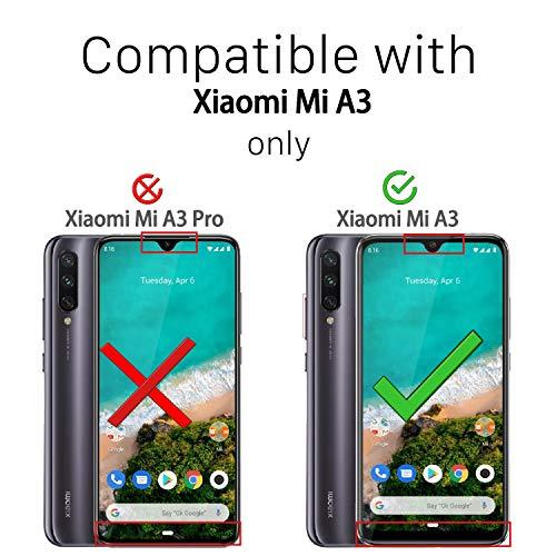 Ferilinso Funda para Xiaomi Mi A3 Funda, [Reforzar la versión con Cuatro Esquinas][Funda Protectora de la cámara] Funda Protectora de Silicona de Piel de Goma TPU a Prueba de Goma (Transparente)