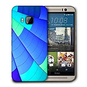Snoogg Blue Parachute Printed Protective Phone Back Case Cover For HTC One M9