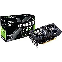 Inno3D GeForce GTX 1050 Ti Twin X2 GeForce GTX 1050 Ti 4Go GDDR5 - Cartes Graphiques (GeForce GTX 1050 Ti, 4 Go, GDDR5, 128 bit, 7680 x 4320 Pixels, PCI Express x16 3.0)