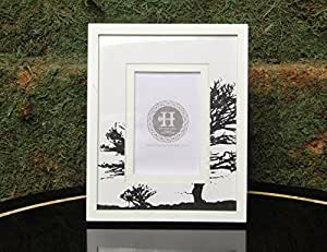 The Home Label Wooden Tree and Photo Frame (White)