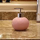 YYY Seifenspender - Seifenspender Flasche - Home Hotel Bad Spender Seifenspender - Mode Keramik Handseife Flasche - Duschgel Shampoo Flasche,Rosa,Drücken