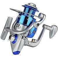 Ogquaton Carrete de Pesca Pintura en Aerosol Rocker Cabeza de plástico Carrete de Pesca Aparejos de Pesca Suministros para Todas Las Estaciones Plata/Azul 1 Pieza
