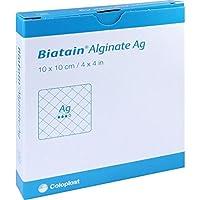 BIATAIN Alginate Ag Kompressen 10x10 cm mit Silber 10 St Verband preisvergleich bei billige-tabletten.eu