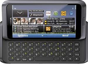 Nokia E7-00 - Smartphone - 3G - noir - clavier QWERTZ