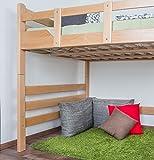 Hochbett für Erwachsene Easy Premium Line K15/n, Buche Vollholz massiv Natur, umbaubar - Liegefläche: 140 x 200 cm - 6