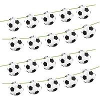 Folat - Banderines para fiestas (cartón, 15 unidades), diseños de balones de fútbol