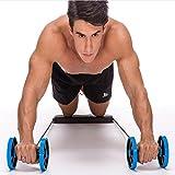 YIN QM Multifonctionnel Abdominale Rouleau Traction Exercice équipement De Conditionnement Physique Accueil Abdominale Roulement Exercice Roue Abdominale Sports