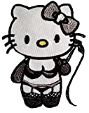 Sexy Kitty Patch Patches Sexy Hello Kitty Aufnäher Applikation Embroidered Iron on Lustig Patches Bügelbilder Aufbügler