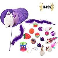 Legendog Katzenspielzeug Set, 17 Stück Katzen Spielzeug | Katzenangel Maus Bälle Katzenspielzeug | Spiele für Kitten