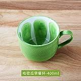 Yomiokla Schöne Frucht Tassen Tassen Keramik Paare Kaffee Tasse Wassermelone Schale, kaffernlimette niedrig