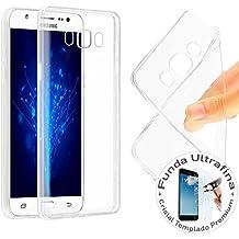 Funda + Protector de Cristal para Samsung Galaxy J5 2016 TPU Gel Templado 9H