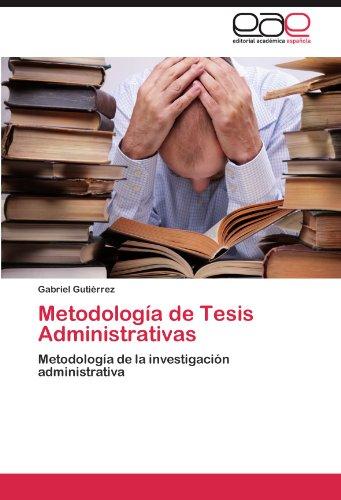 Metodología de Tesis Administrativas