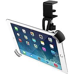 BESTEK Soporte de Tableta Universal 360 Grados para Ipad 2/3/4 y Ipad Mini/Air y Galaxy con 2 Abrazaderas Montado en Cama, Mesa, Escritorio y etc
