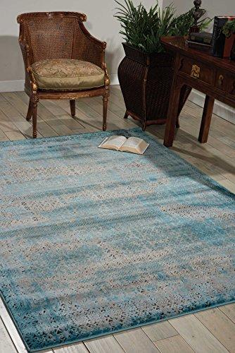 Nourison Teppich Mondrian 99446268938-Blau maschinell gewebt Teppich, blau, 3ft 9Zoll x 5ft 9Zoll - Nourison Teppich Blau