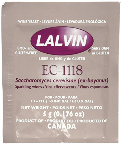 Strange Brew Beer and Winemaking Lalvin Dried Wine Yeast EC #1118 (Pack of 10)
