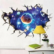Tefamore Pegatina de pared de vinilo 3D Ventana de vista de etiqueta adhesiva Sala de Arte Decal Mural Decoración para el hogar