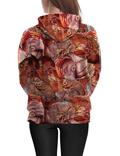 FeelinGirl 3D Imprimé T-shirt Viande Crue Pull Manches Longues Sweat à capuche #2