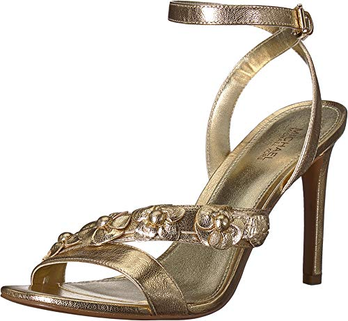 Michael Michael Kors Frauen Sandalen mit Absatz Gold Groesse 7 US /38 EU - Michael Kors Boots