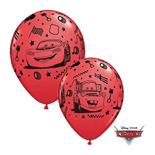 Unbekannt Qualatex 19233Disney Pixar Cars Lightning McQueen und Mater rund Latex Luftballons, rot, 12Zoll