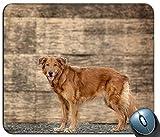 Gaming-Mausunterlage, Niedlicher Goldener Retriever-Welpen-Mausunterlage-Auflage - Labrador-Hundegeschenk-PC Computer