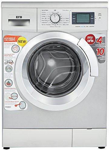 IFB 7 kg Fully-Automatic Front Loading Washing Machine (Elite Aqua SX, Silver)