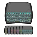 OVIO D8 Mini Wireless Keyboard with Touchpad Mouse, 2.4Ghz Backlit Handle Rechargeable Keyboard