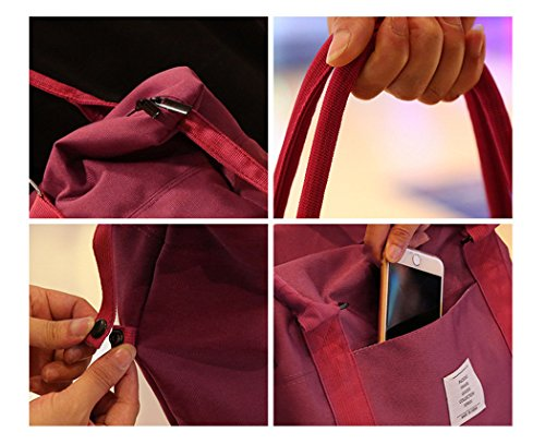 Yinyuehui, Borsa A Tracolla Da Uomo Beige Beige, Rosso (rosso) - Sportbag-089 Rosso