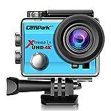 Campark ACT74 Action Kamera WIFI 1080P Sports Cam 4K Camera 16MP Ultra Full HD Helmkamera wasserdicht 170 ° Weitwinkel mit 2 Batterien Transporttasch (Blau)