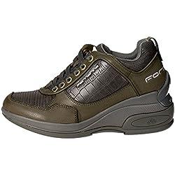 Fornarina Daily, Sneaker, Donna, Grigio (Grey/Green 06), 39 EU