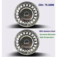 2 unités Filtre à évier / bouchon de bonde pour évier, en acier inoxydable, diamètre de 79.3 mm, Épais