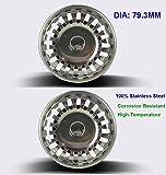 2x Siebkörbchen für Handbetätigung mit Durchmesser 79-80 mm, Doppelte Edelstahl