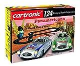 """Auto-Rennbahn """"Panamericana"""" von Cartronic im Maßstab 1:24, umfangreiches Komplett-Set – Bahnlänge 7m, mit 2 Mercedes Benz-Modellen und komplexer Rennstrecke"""