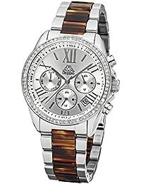 Kappa Mujer Reloj con Banda de metal Fecha Día de la semana GMT KP de 1413l de c