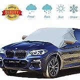SANGYM Frontscheibe Abdeckung Faltbare Windschutzscheibe Schneeabdeckung Anti-Frost Auto Abdeckungen Anti-Schnee Wind Frost für Auto Fit für die meisten Fahrzeug mit Größe