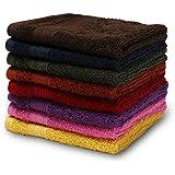 Urban Hues Rich Cotton 6 Pcs 500 GSM Rectangular 12x12 inch Face Towel Set (Multi)