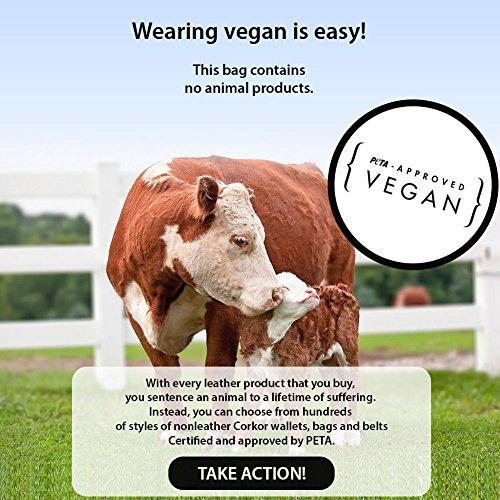 CORKOR Natur Zebra Natur Beuteltasche Handtasche Bucket Damen Veganem Veganer Geldbeutel Schultertaschen aus Leder Umhängetasche Bag Leder rZ8H4wqr