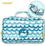 EDWEKIN® 2in1 Wickeltasche und Kulturbeutel für Kinder, mitwachsende Windeltasche, Beauty Case, Kosmetiktasche, Necessaire für Babys und Kinder