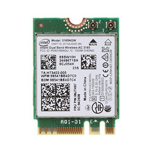 sitonelectic Intel 00JT497 3165NGW Wireless-AC Dual-Band für Lenovo ThinkPad Bluetooth WiFi IBM Karte Laptop NGFF WLAN Ibm Wireless-antenne