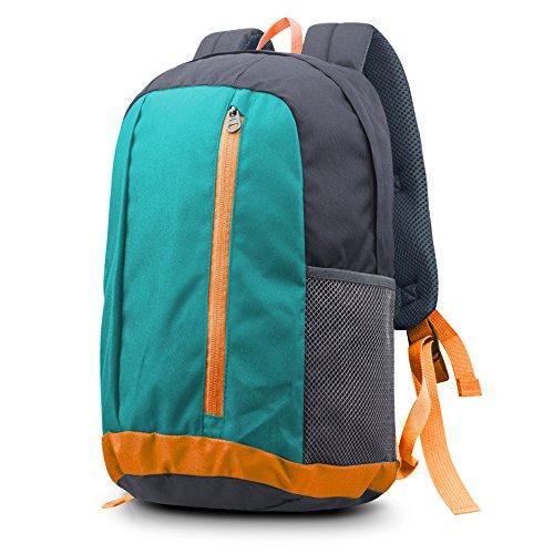 Bagzy zaino trekking cartella peso leggero viaggio escursione piccolo scuola studenti daypack casuale bambini uomo donne borsa da palestra sportivo outdoor campeggio alpinismo arrampicata m-blu
